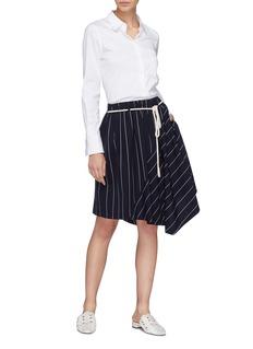 Vince Rope belt stripe asymmetric skirt