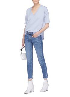 rag & bone/JEAN 'Phoenix Vee' modal-cotton high-low T-shirt