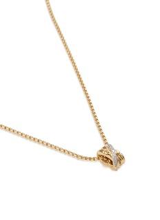 John Hardy 'Bamboo' diamond 18k yellow gold pendant necklace