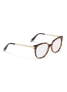 Victoria Beckham Metal temple acetate round optical glasses