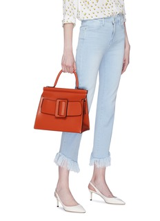 BOYY 'Karl' buckled leather satchel