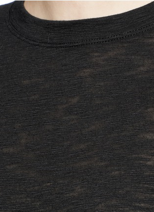 Detail View - Click To Enlarge - Vince - Heathered slub jersey T-shirt