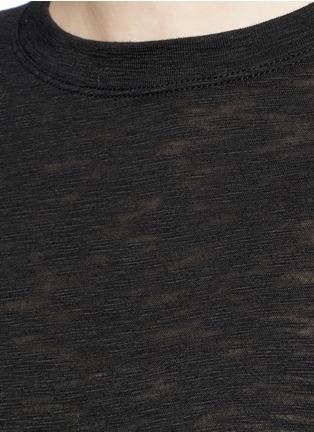Vince-Heathered slub jersey T-shirt