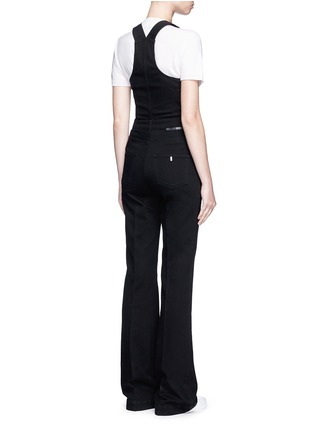 Stella McCartney - Slim flare leg denim dungarees