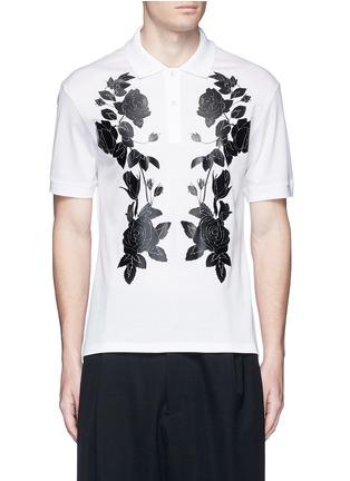 首图 - 点击放大 - ALEXANDER MCQUEEN - 玫瑰花胶印纯棉polo衫
