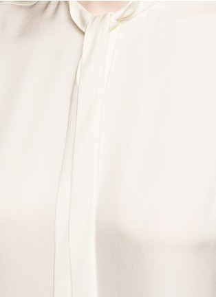 Detail View - Click To Enlarge - Theory - 'Jazlina' tie neck silk blouse