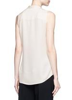 'Jazlina' tie neck silk blouse