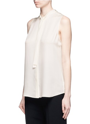 Front View - Click To Enlarge - Theory - 'Jazlina' tie neck silk blouse
