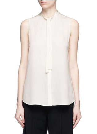Main View - Click To Enlarge - Theory - 'Jazlina' tie neck silk blouse