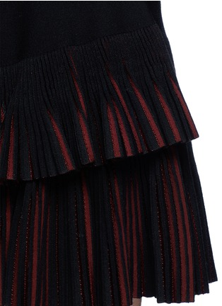 Detail View - Click To Enlarge - Alaïa - 'Seguidille' plissé pleat knit skirt