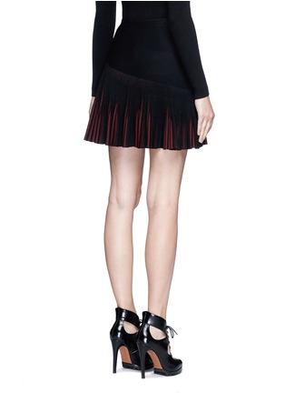 Back View - Click To Enlarge - Alaïa - 'Seguidille' plissé pleat knit skirt