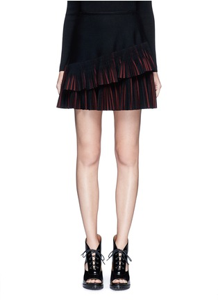 Main View - Click To Enlarge - Alaïa - 'Seguidille' plissé pleat knit skirt