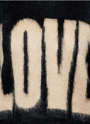 Detail View - Click To Enlarge - Givenchy - 'LOVE' Mohair-wool sweater