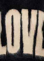 'LOVE' Mohair-wool sweater