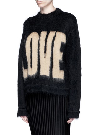 Front View - Click To Enlarge - Givenchy - 'LOVE' Mohair-wool sweater