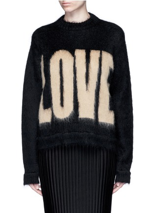 Main View - Click To Enlarge - Givenchy - 'LOVE' Mohair-wool sweater