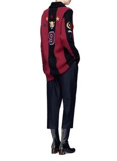 Stella McCartneyVarsity badge embroidered stripe  cardigan