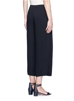 Back View - Click To Enlarge - Theory - 'Zavabell' cropped relaxed silk pants