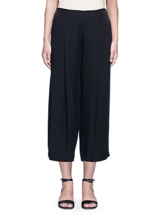Theory 'Zavabell' cropped relaxed silk pants