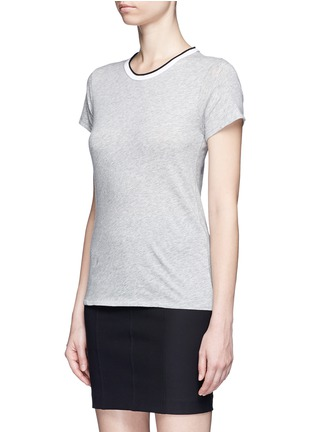 Front View - Click To Enlarge - rag & bone/JEAN - Contrast rib crew neck T-shirt