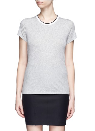 Main View - Click To Enlarge - rag & bone/JEAN - Contrast rib crew neck T-shirt