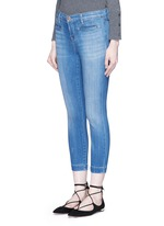 'Skeyla' cropped skinny capri denim pants