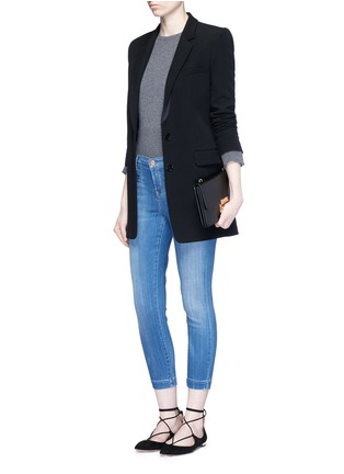 Figure View - Click To Enlarge - J Brand - 'Skeyla' cropped skinny capri denim pants