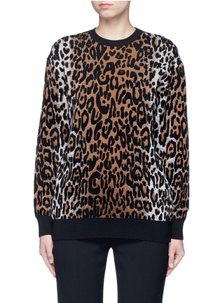 Main View - Click To Enlarge - Stella McCartney - Cheetah jacquard wool blend sweater