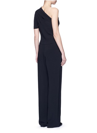 Back View - Click To Enlarge - Stella McCartney - 'Elisa' one shoulder zip front crepe jumpsuit
