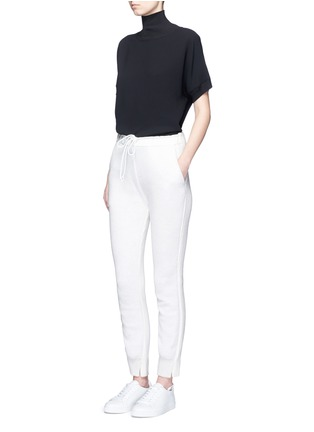 Figure View - Click To Enlarge - Vince - Ribbed turtleneck crepe top