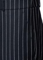 Pinstripe wool jumpsuit