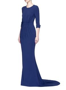 Stella McCartneyRuched waist 3/4 sleeve gown