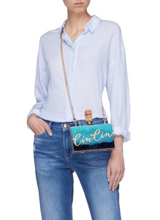 Cecilia Ma 'Cin Cin' dégradé glitter acrylic box clutch