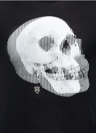 Detail View - Click To Enlarge - Alexander McQueen - Optic skull print jersey T-shirt