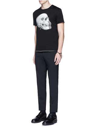 Figure View - Click To Enlarge - Alexander McQueen - Optic skull print jersey T-shirt