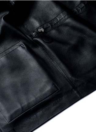 - The Row - 'Dusa' hooded leather coat