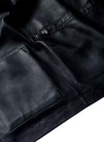 'Dusa' hooded leather coat
