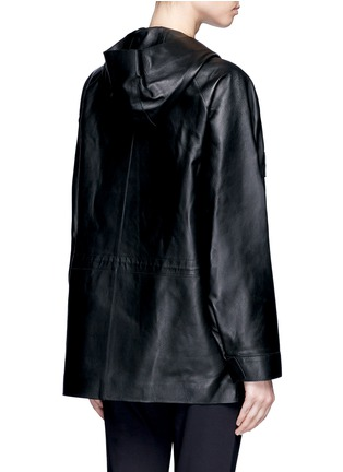 Back View - Click To Enlarge - The Row - 'Dusa' hooded leather coat