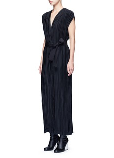 TomePleated V-neck jumpsuit