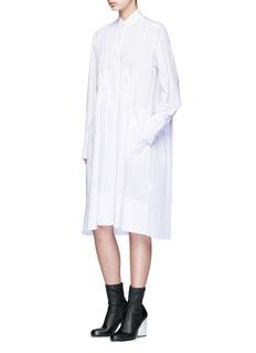 TomePlissé pleated back gathered waist dress