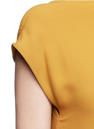 Detail View - Click To Enlarge - Tome - One-shoulder crepe dress
