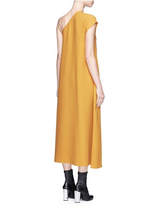 Back View - Click To Enlarge - Tome - One-shoulder crepe dress