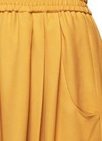 Crepe belted karate pants