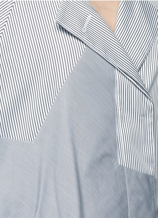 Detail View - Click To Enlarge - Tome - Satin stripe belted coat dress