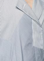 Satin stripe belted coat dress