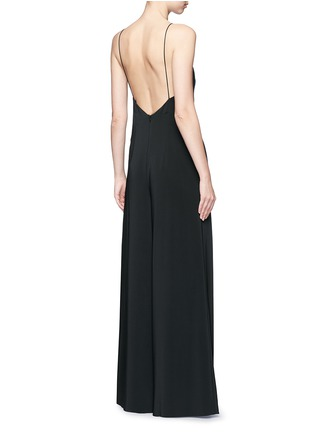 Back View - Click To Enlarge - Rosetta Getty - Camisole low back wide leg jumpsuit
