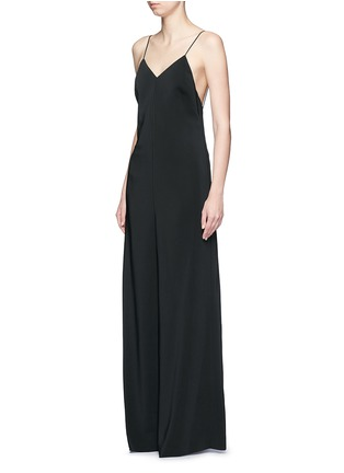 Front View - Click To Enlarge - Rosetta Getty - Camisole low back wide leg jumpsuit