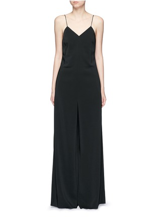 Main View - Click To Enlarge - Rosetta Getty - Camisole low back wide leg jumpsuit