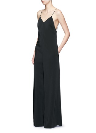 Figure View - Click To Enlarge - Rosetta Getty - Camisole low back wide leg jumpsuit