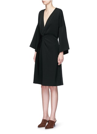 Front View - Click To Enlarge - Rosetta Getty - Twist knot front kimono dress